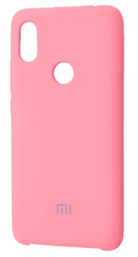 Накладка оригинальная Silicone cover Xiaomi Redmi Note 7 (silky & soft-touch) (rose)