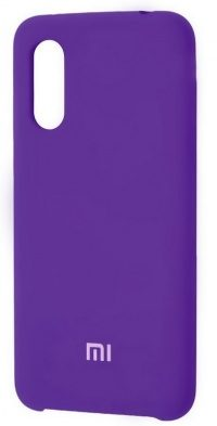 Накладка оригинальная Silicone cover Xiaomi Mi9 (silky & soft-touch) (purple)