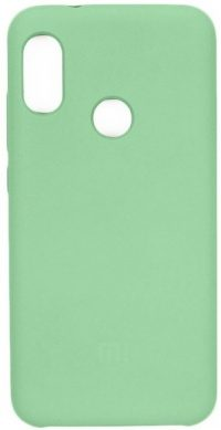 Накладка оригинальная Silicone cover Xiaomi Mi 9T (silky & soft-touch) (green)