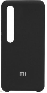Накладка оригинальная Silicone cover Xiaomi Mi 10 (silky & soft-touch) (black)