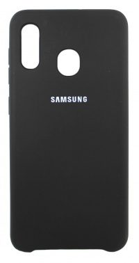 Накладка оригинальная Silicone cover Samsung Galaxy A30 (silky & soft-touch) (black)