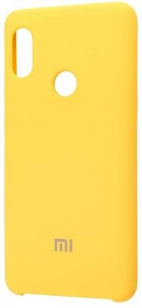 Накладка оригинальная Silicone cover Xiaomi Redmi Note 7 (silky & soft-touch) (yellow)