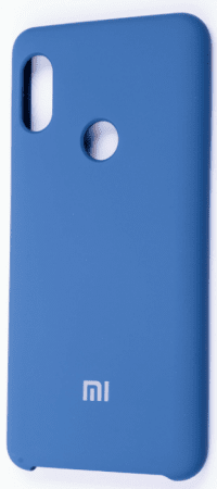 Накладка оригинальная Silicone cover Xiaomi Mi A3 (silky & soft-touch) (blue)