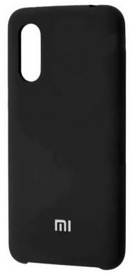 Накладка оригинальная Silicone cover Xiaomi Mi9 (silky & soft-touch) (black)