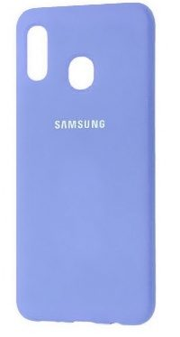 Накладка оригинальная Silicone cover Samsung Galaxy A30 (silky & soft-touch) (purple)