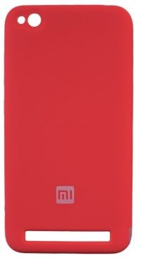 Накладка оригинальная Silicone cover Xiaomi Redmi 5A (silky & soft-touch) (red)