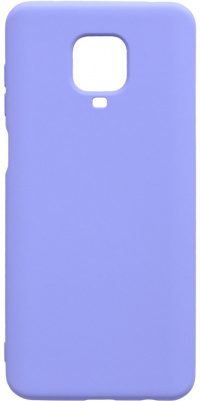 Накладка оригинальная Silicone cover Xiaomi Redmi Note 9 Pro & 9S (silky & soft-touch) (lilac)