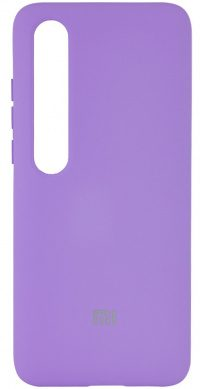 Накладка оригинальная Silicone cover Xiaomi Mi 10 (silky & soft-touch) (purple)