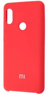 Накладка оригинальная Silicone cover Xiaomi Redmi Note 7 (silky & soft-touch) (red)