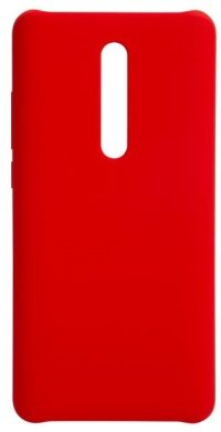 Накладка оригинальная Silicone cover Xiaomi Mi 9T (silky & soft-touch) (red)