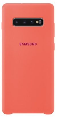 Накладка оригинальная Silicone cover Samsung Galaxy S10e (silky & soft-touch) (rose)
