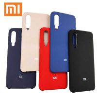 Накладка оригинальная Silicone cover Xiaomi Mi 9 Lite (silky & soft-touch) (light blue)