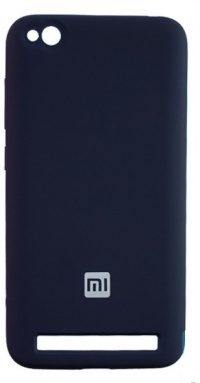 Накладка оригинальная Silicone cover Xiaomi Redmi 5A (silky & soft-touch) (dark blue)