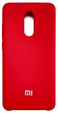 Накладка оригинальная Silicone cover Xiaomi Redmi 8A (silky & soft-touch) (red)