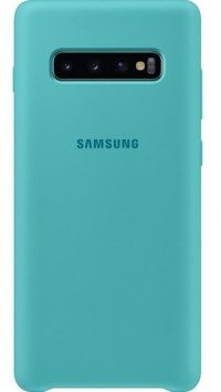 Накладка оригинальная Silicone cover Samsung Galaxy S10+ (silky & soft-touch) (light blue)