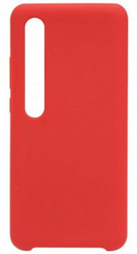 Накладка оригинальная Silicone cover Xiaomi Mi 10 (silky & soft-touch) (red)