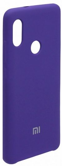 Накладка оригинальная Silicone cover Xiaomi Redmi Note 7 (silky & soft-touch) (purple)