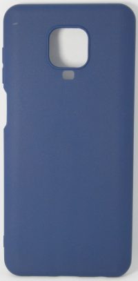 Накладка оригинальная Silicone cover Xiaomi Redmi Note 9 Pro & 9S (silky & soft-touch) (dark blue)